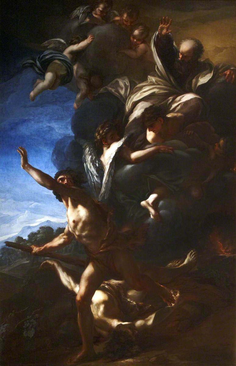 Cain Fleeing from the Sight of God after the Death of Abel