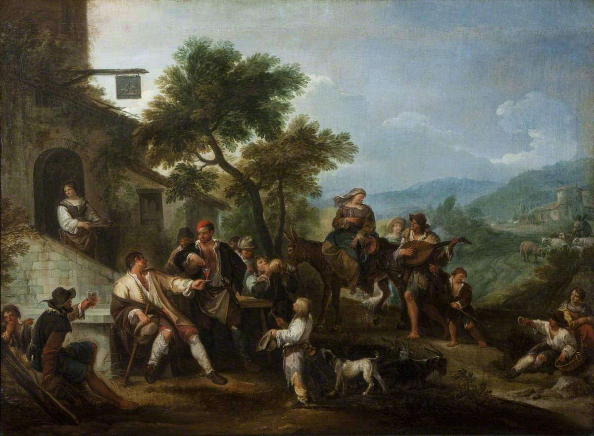 Peasants Merry-Making before an Inn