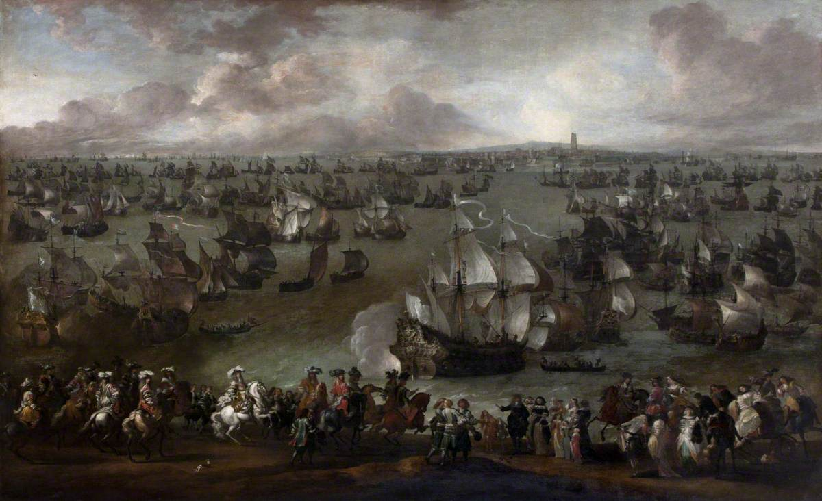 Louis XIV (1638–1715), King of France, Reviewing His Fleet at Dunkirk, Met by Representatives of the City