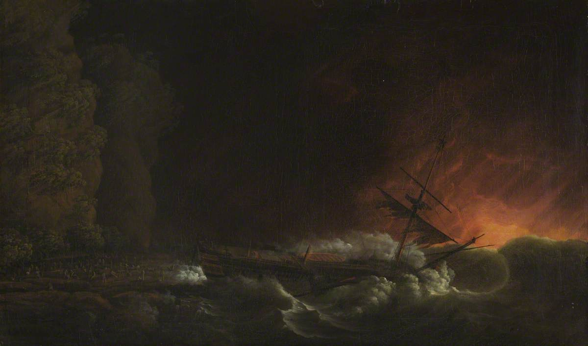 The Shipwreck of the 'Phoenix' at Night on the Coast of Cuba, 4 October 1780