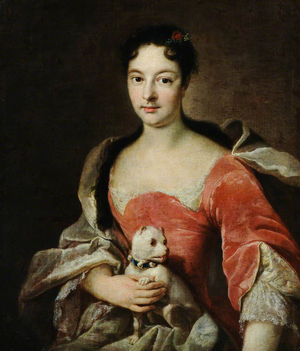 Portrait of a Lady of the d'Hervart Family with a Dog on Her Lap