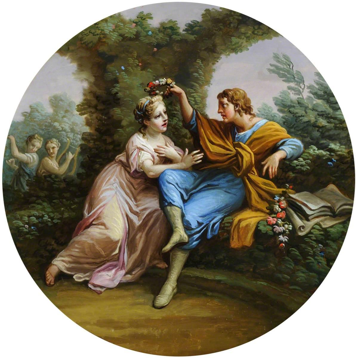 Daphnis Bestowing a Garland of Flowers on Chloe