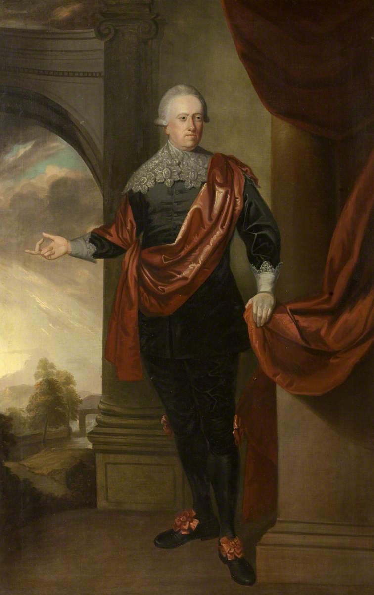 John Hussey Delaval (1728–1808), Bt, Later Lord Delaval, in Van Dyck Dress