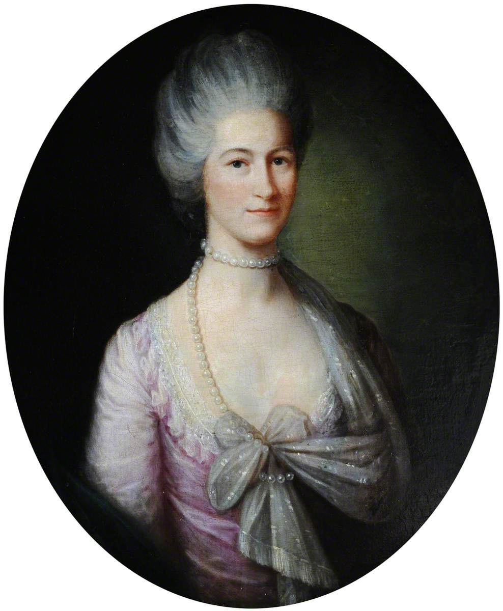 Portrait of an Unknown Lady with Powdered Hair
