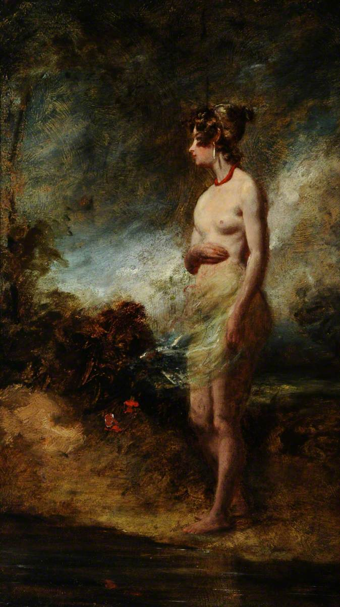 Female Nude Standing in the Open