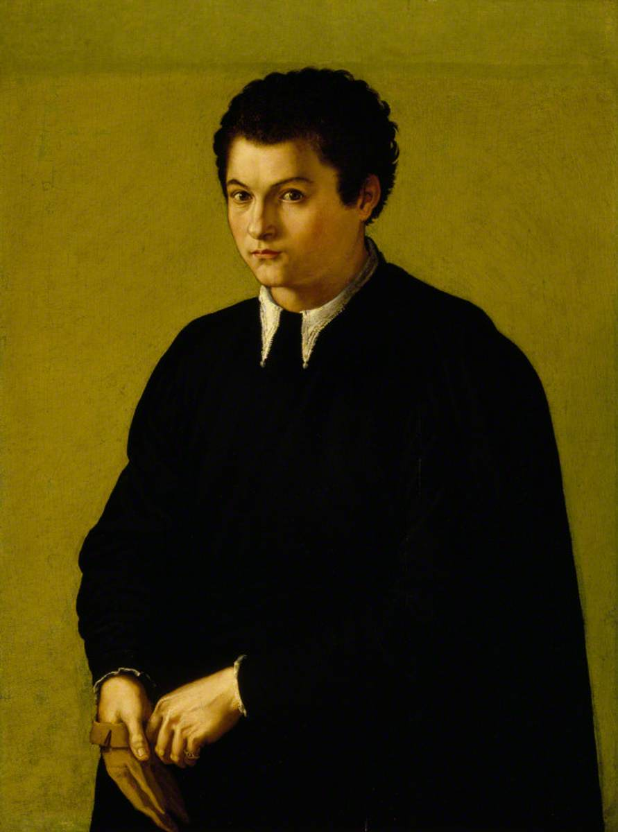 Portrait of an Unknown Youth in Black, Holding a Glove