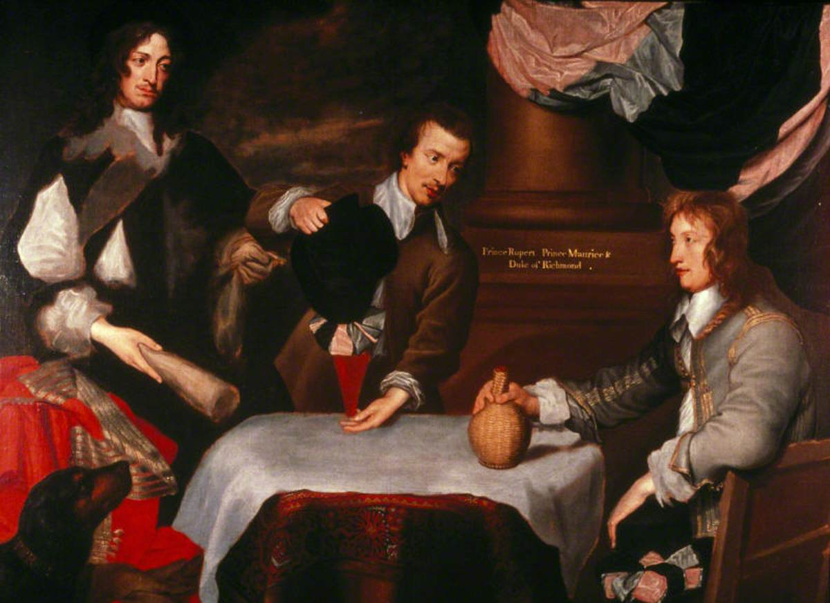 Prince Rupert (1619–1682), Colonel William Murray, and Colonel The Honourable John Russell (1620–1681)