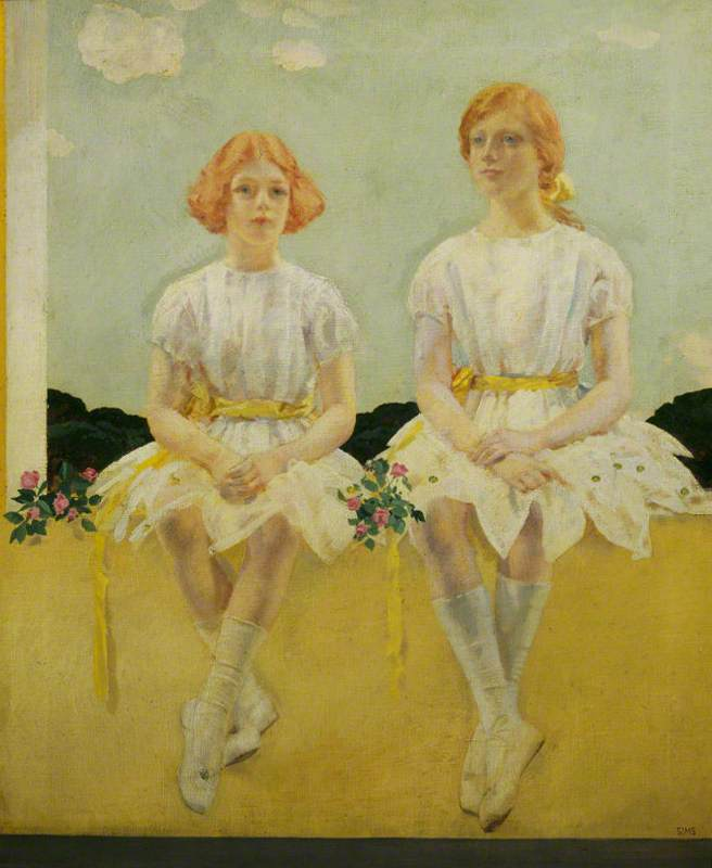 Two Girls Seated: Diana (1909–1963), and Sarah Churchill (1914–1982)