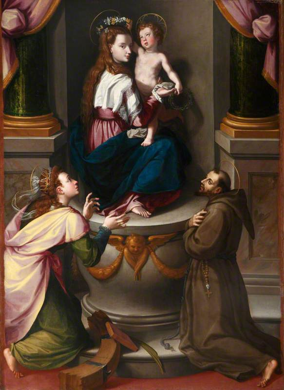 The Madonna and Child with Saint Catherine of Alexandria and Saint Francis of Assisi