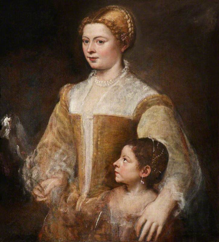 A Patrician Lady and Her Daughter