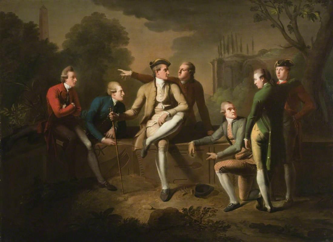 Gentleman on the Grand Tour: John Corbet (1751–1817); The Honourable John Tollemache (1750–1777); John Chetwynd-Talbot (1750–1793), Later 1st Earl Talbot; James Byers (1733–1815); Sir John Rous (1750–1827), 6th Bt, 1st Earl of Stradbroke; John Staples (1736–1820); and William McDowall