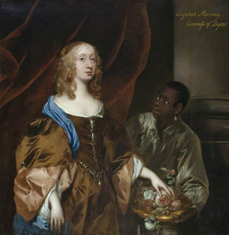 Elizabeth Murray (1626–1698), Lady Tollemache, Later Countess of Dysart and Duchess of Lauderdale with a Black Servant
