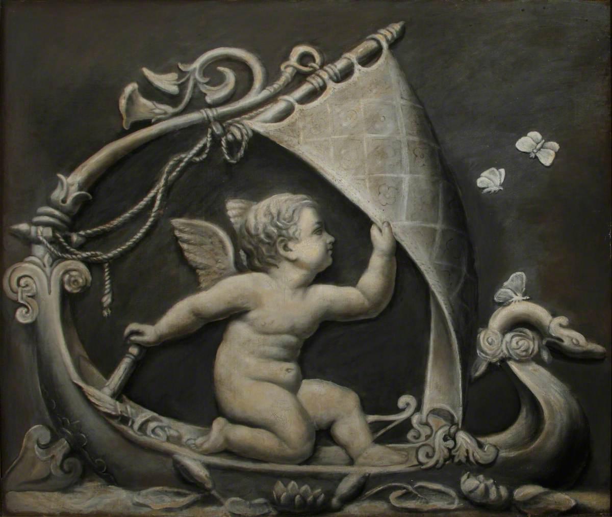 Cupid as Helmsman