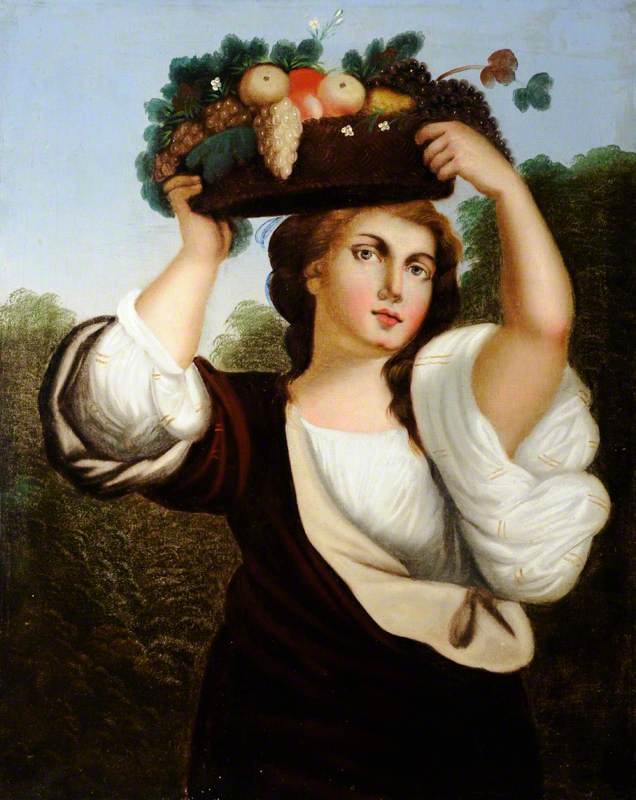 Lady with a Basket of Fruit on Her Head