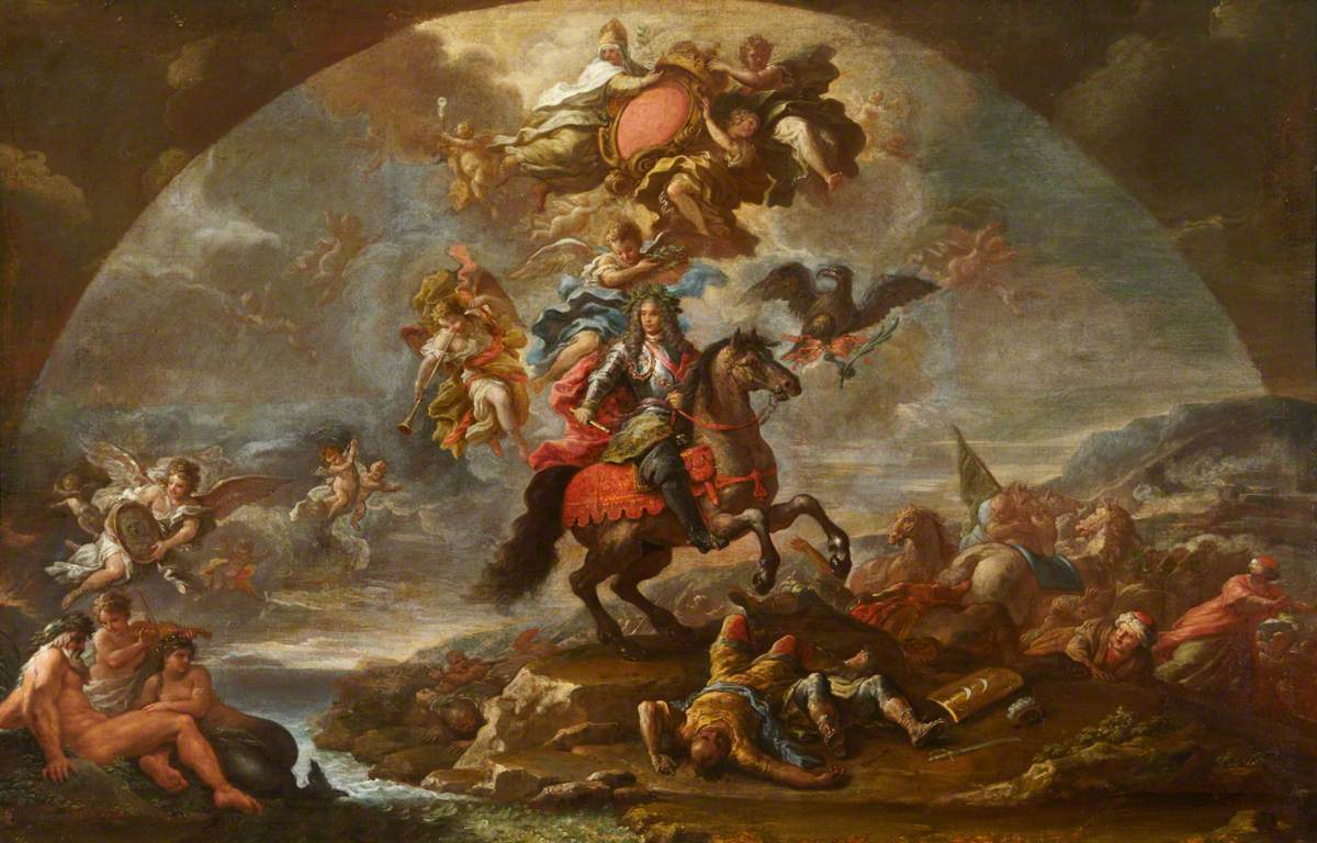 A Glorification of Prince Eugene of Savoy's Victory over the Turks in Hungary and at Zenta and Belgrade in 1697