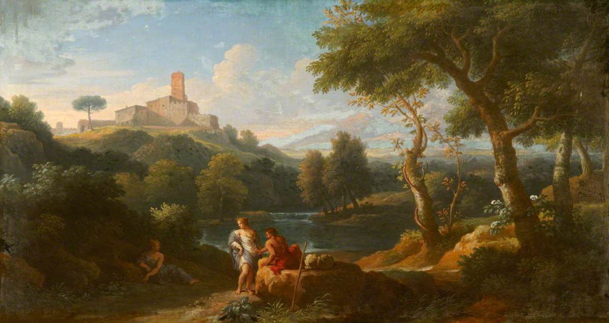 An Italian Landscape with Classical Figures