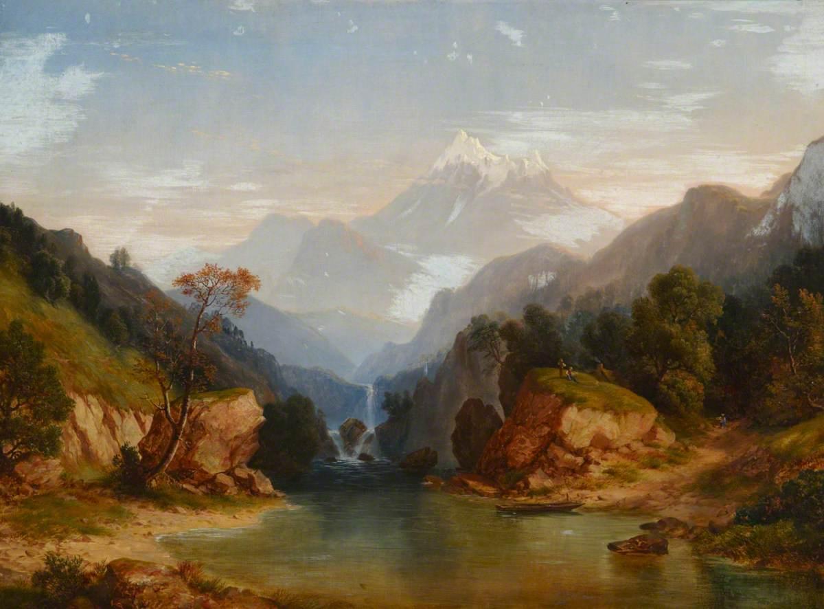 Alpine River Scene