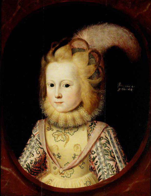 Lady Margaret Sackville (1614–1676), Later Countess of Thanet, Aged 4