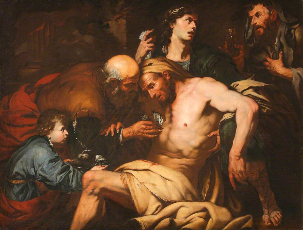 The Good Samaritan Attending to the Wounded Traveller at the Inn