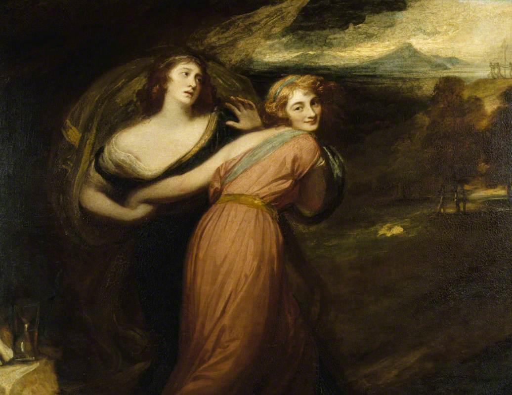 Mirth and Melancholy (Miss Wallis, Later Mrs James Campbell)