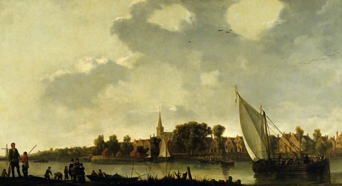 View of a River Town