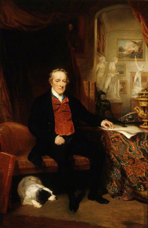 George O'Brien Wyndham (1751–1837), 3rd Earl of Egremont, in the North Gallery, Petworth