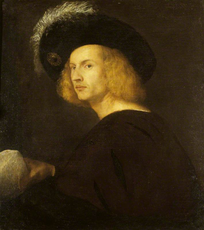 Portrait of an Unknown Man in a Black Plumed Hat