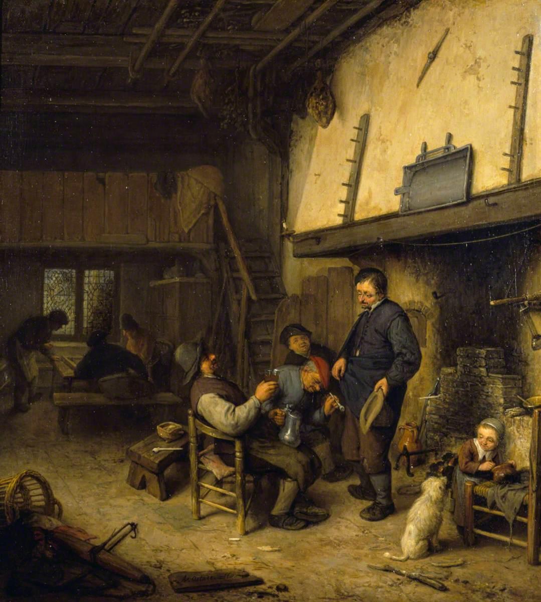Peasants Before a Fire in an Inn