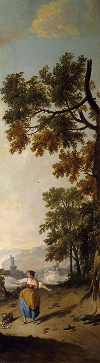 Landscape with a Young Woman Dropping a Basket of Eggs