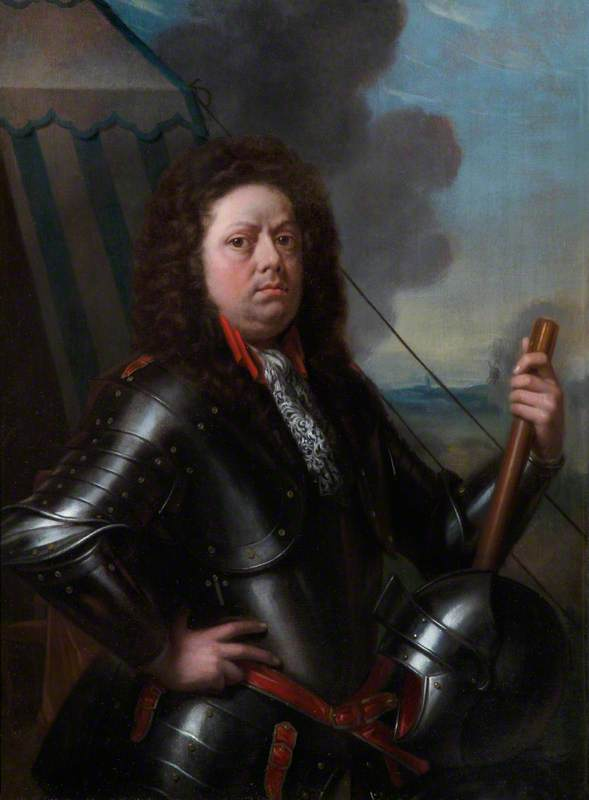 Portrait of an Officer in Armour in Front of His Tent