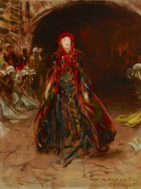 A Sketch of Dame Ellen Terry (1847–1928), as Lady Macbeth in William Shakespeare's 'Macbeth'