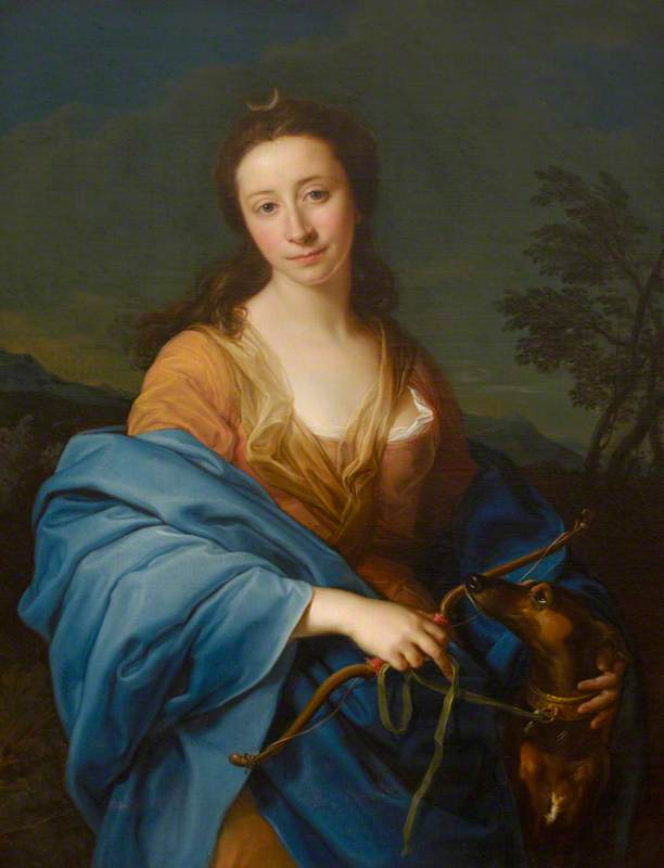 Sarah Lethieullier (1722–1788), Lady Fetherstonhaugh, as Diana