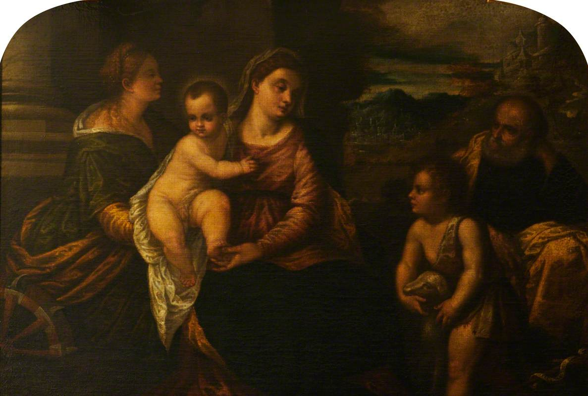 The Holy Family with Saint Catherine and the Infant Saint John the Baptist