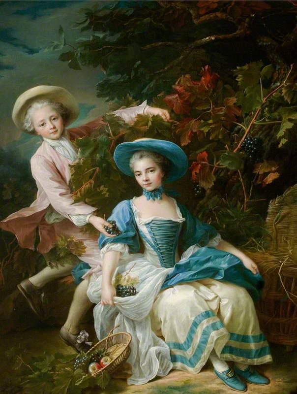 The Prince de Guémenée (1745–1809), and Mademoiselle de Soubise (1743–1807), Dressed as Grape Harvesters