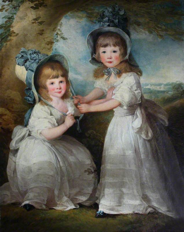 The Daughters of Lady Boynton as Children (Maria Anna Georgiana Parkhurst, d.1821, Later Mrs Blachley; and Louise Elizabeth Parkhurst, Later Mrs Baxter)