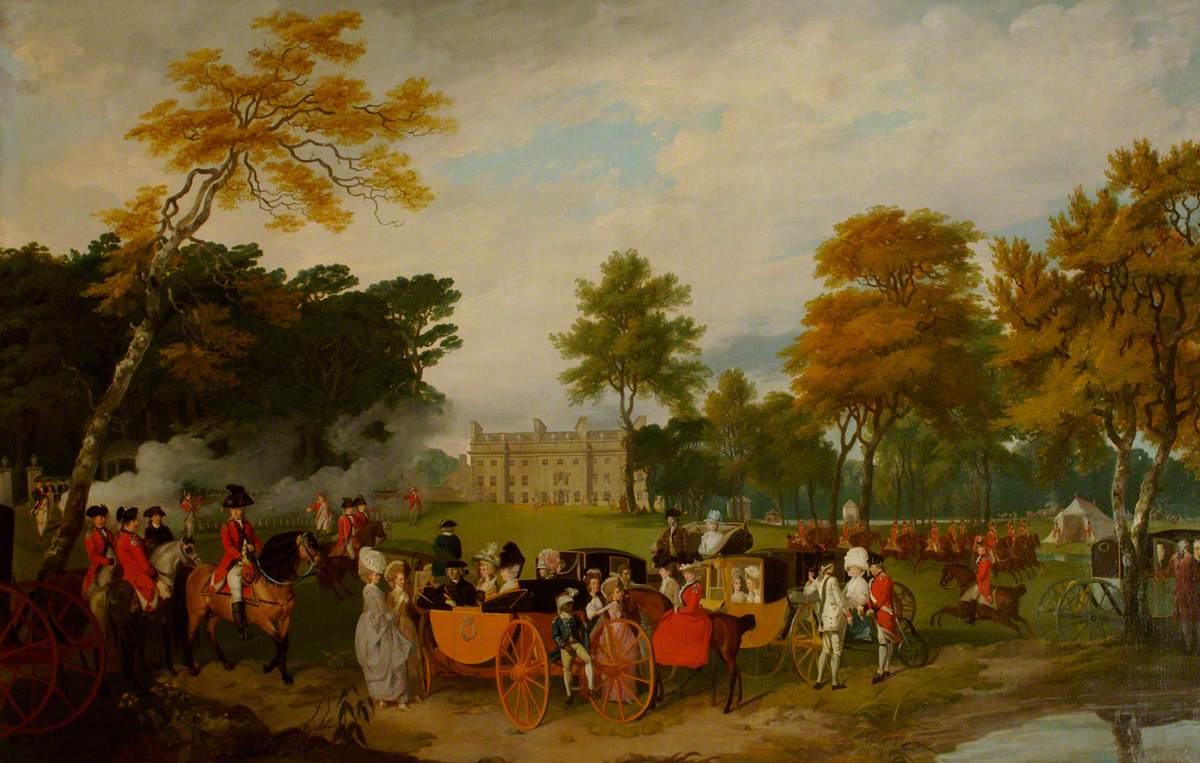 The Earl of Aldborough Reviewing Volunteers at Belan House, County Kildare