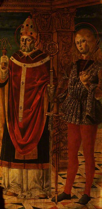 Saint Ambrose and Saint Sebastian
