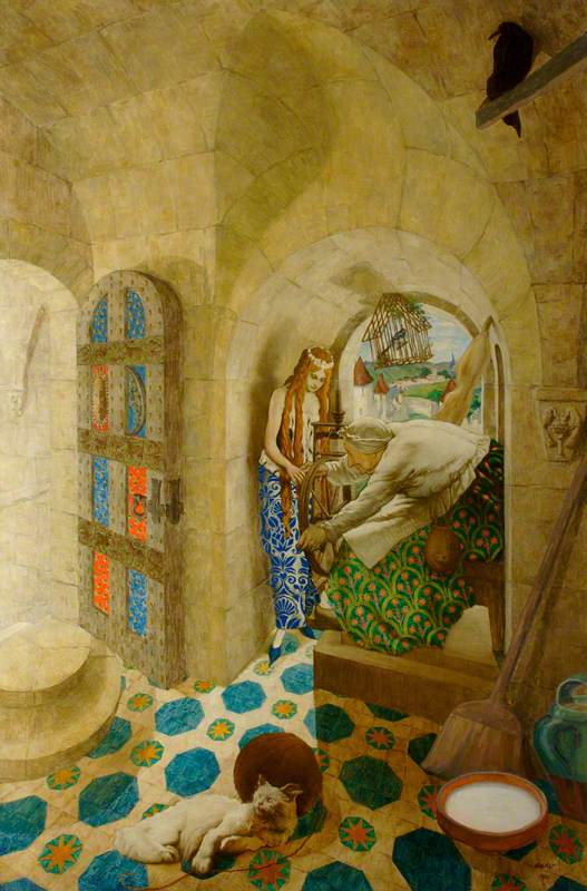 The Sleeping Beauty: The Princess Pricks Her Finger on a Spinning Wheel