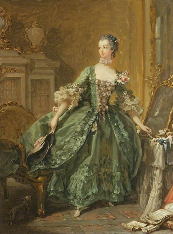 Sketch for a Portrait of Madame de Pompadour (1721–1764)
