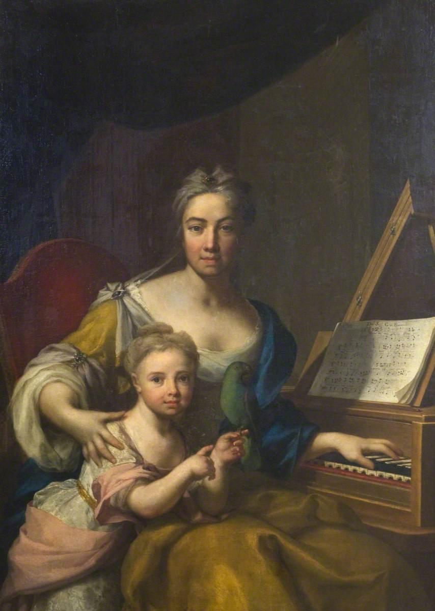 Frances, Wife of John, 6th Earl of Mar, Daughter of Evelyn, 1st Duke of Kingston