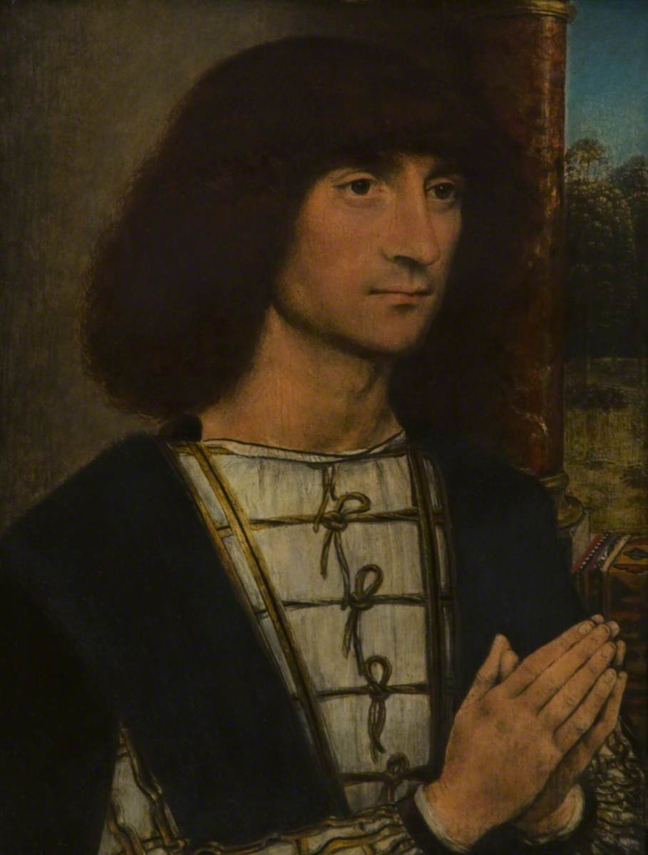 Portrait of a Young Man with His Hands Clasped in Prayer