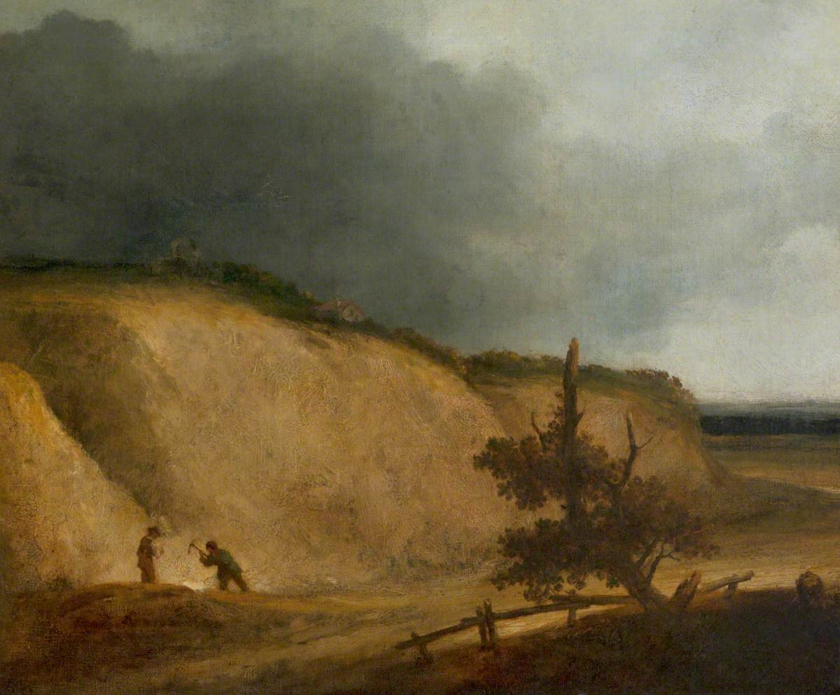 The Gathering Storm (Landscape with Quarry and Figures)