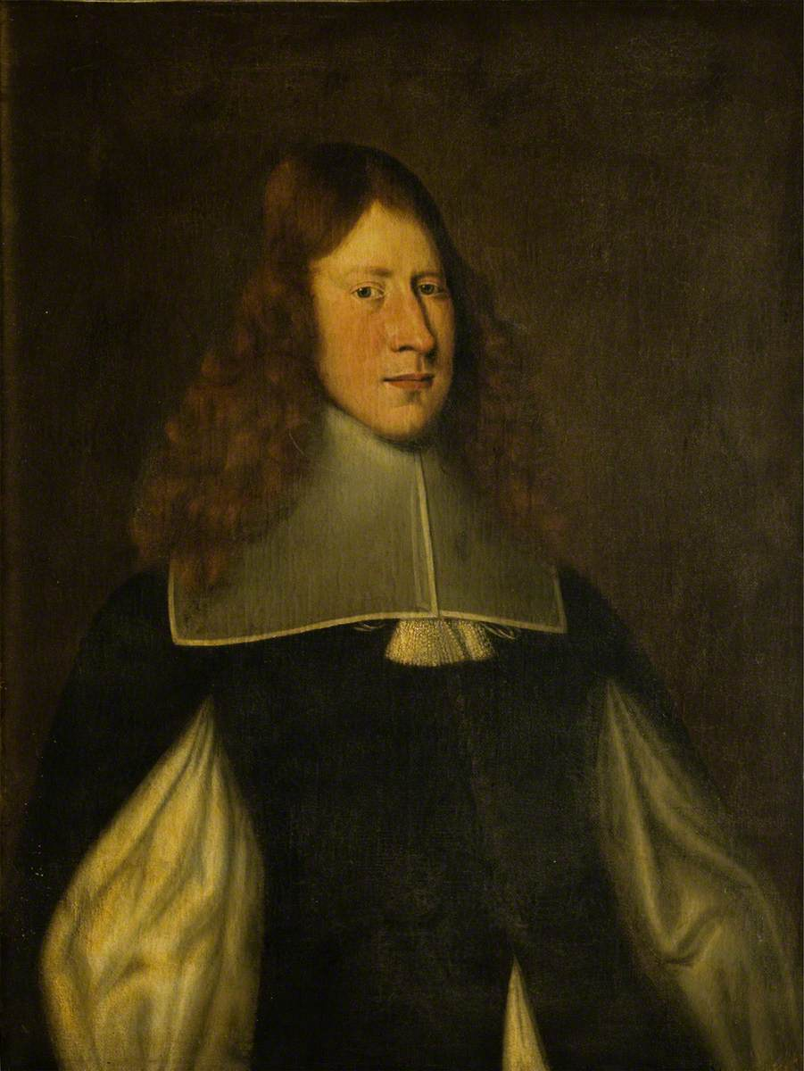 Portrait of a Man in a Black Slashed Coat with Lace Collar
