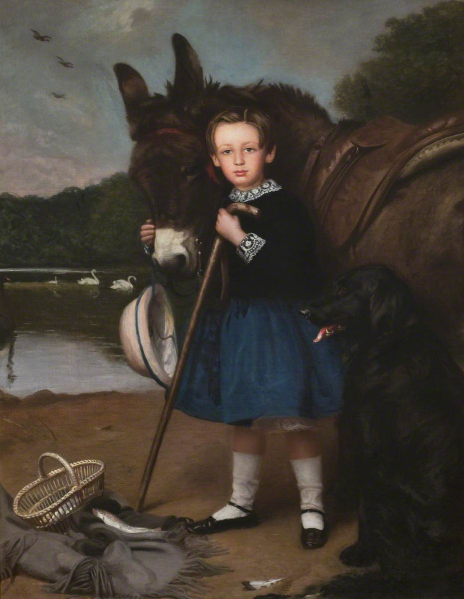 Lord John Kennedy (1850–1895), Youngest Son of the 2nd Marquess of Ailsa, by the Swan Pond