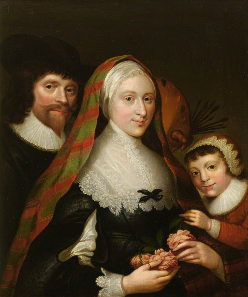 Self Portrait of the Artist, His Wife and Child