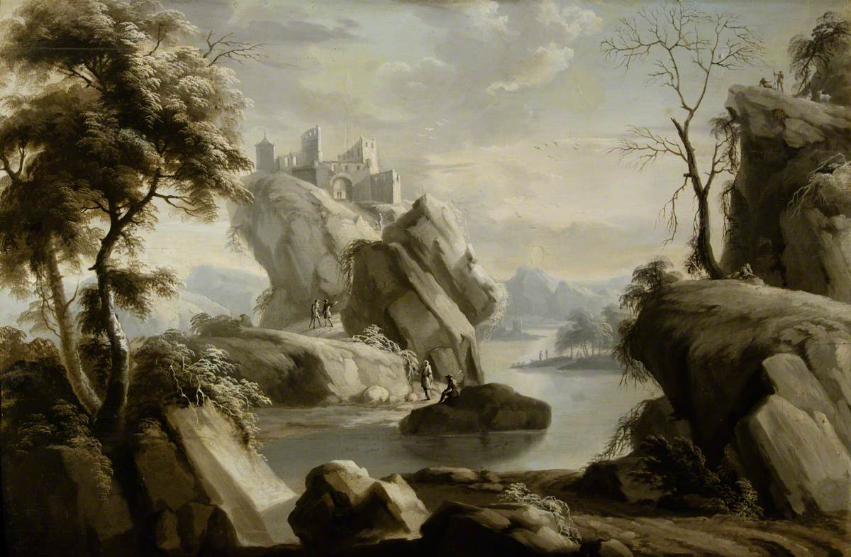 Landscape with a River and a Building*
