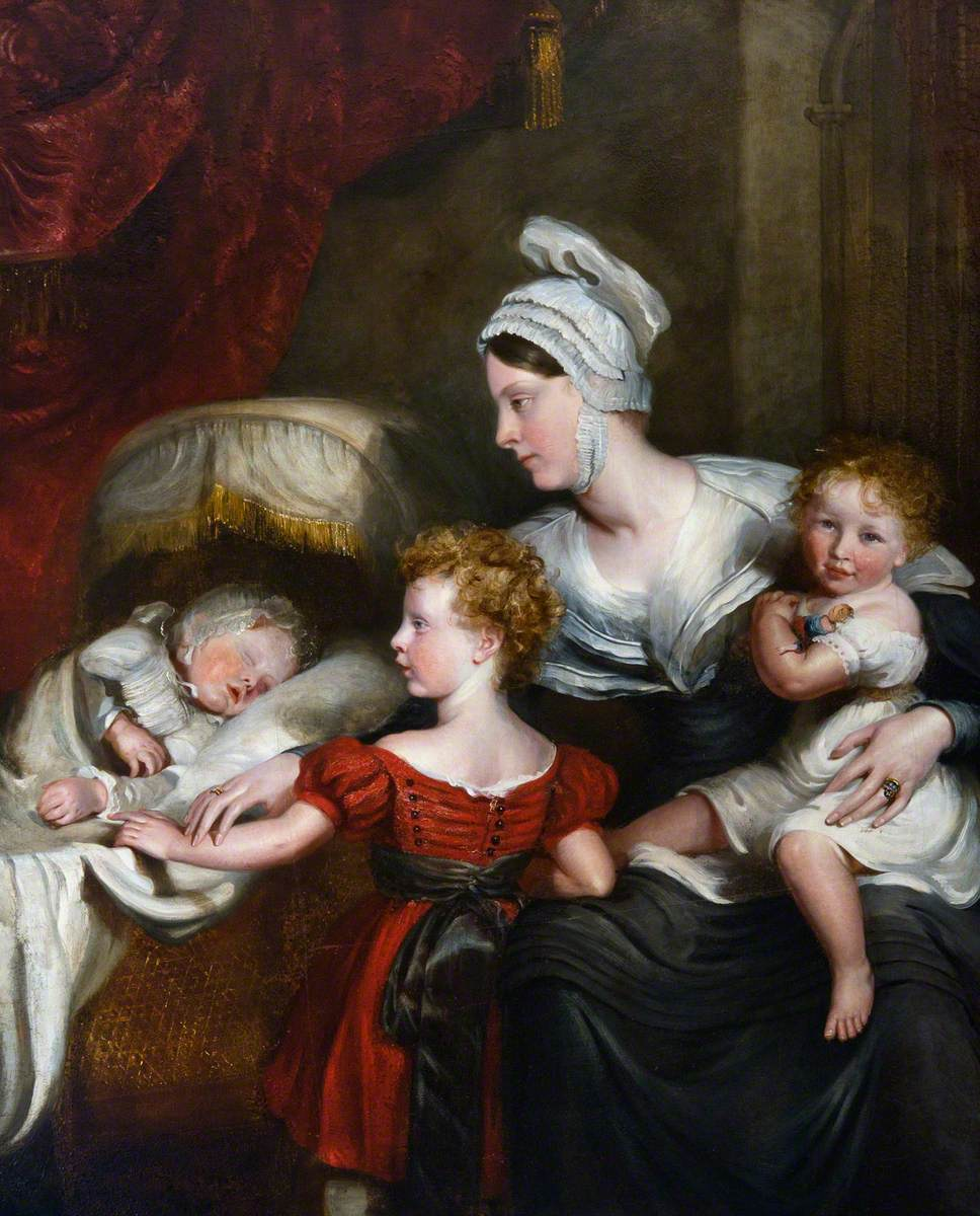 Lady Augusta FitzClarence Kennedy-Erskine (d.1860), Natural Daughter of King William IV and Wife of the Honourable John Erskine, with Her Children, Wiliam Henry, Wilhelmina and Millicent Ann Mary