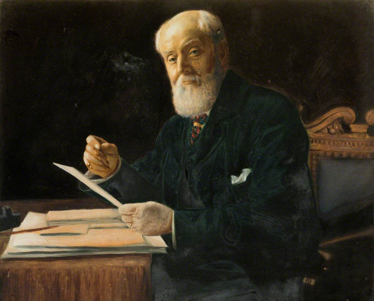 Portrait of a Seated Man at a Desk with Papers