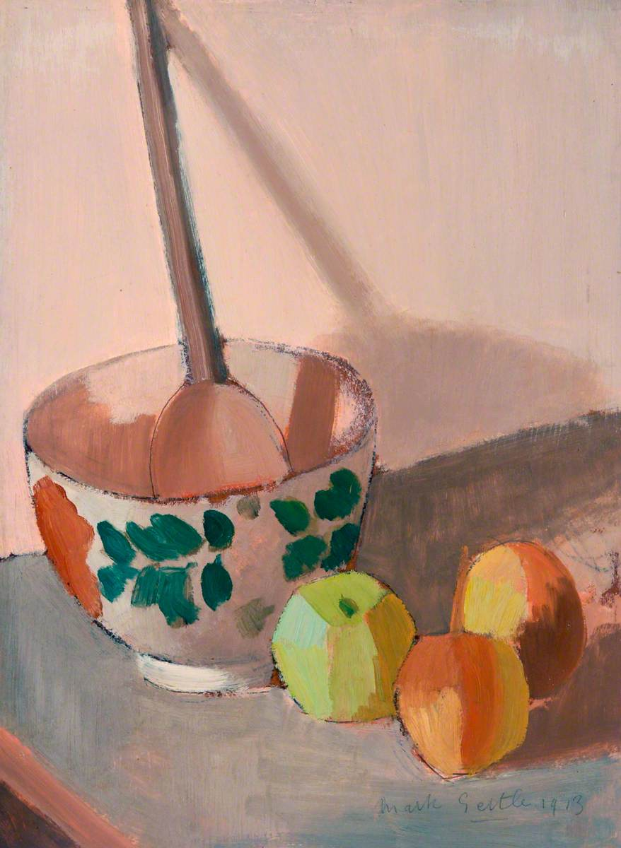 Still Life with Bowl, Spoon and Apples