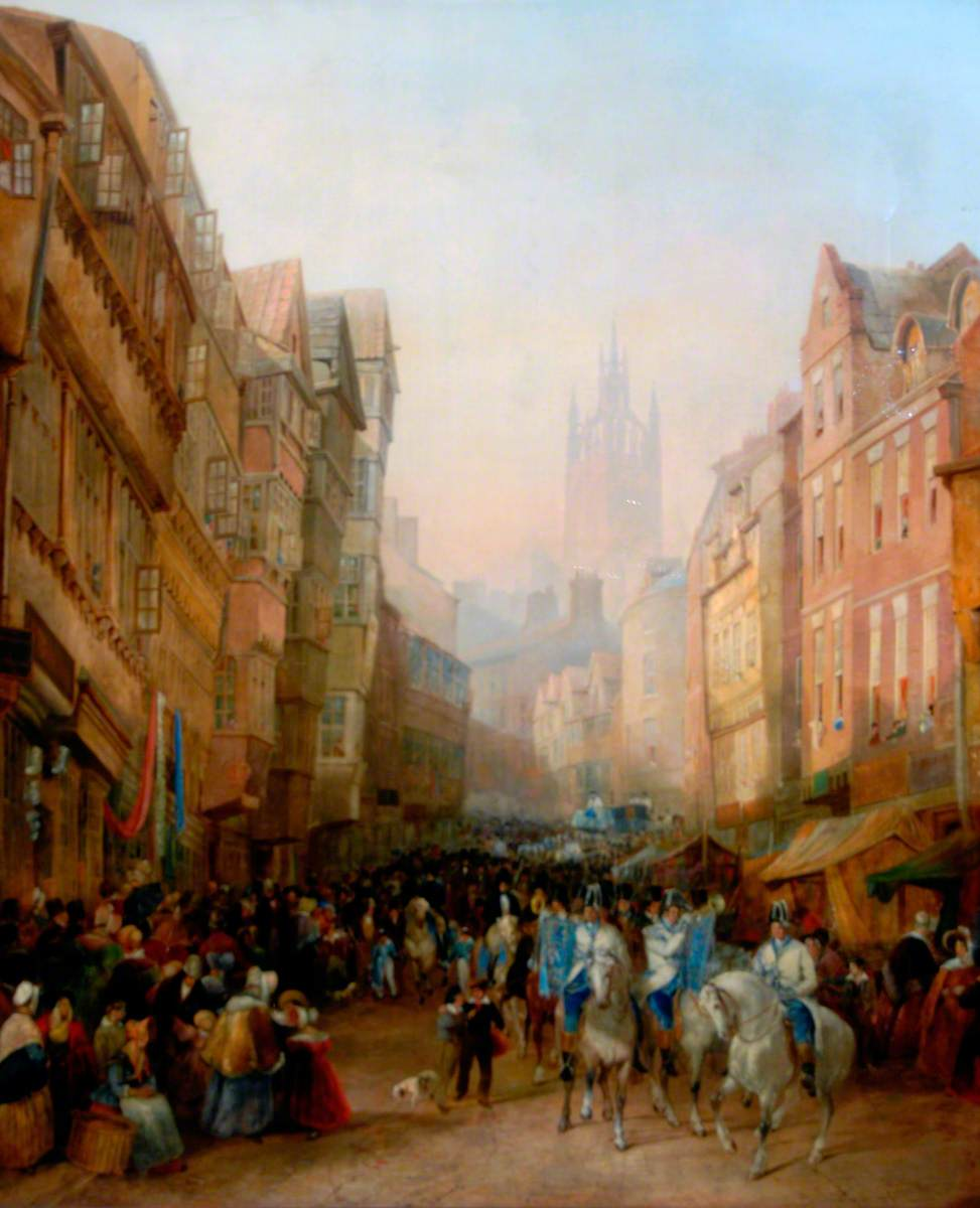 The Side, Newcastle upon Tyne, Sheriff's Procession to Meet the Judges